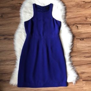 J crew purple crepe dress size 8